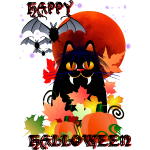 Black Halloween Kitty and Harvest Moon-text3000.pn