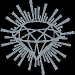 shiney silver print diamond lines