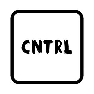 White CNTRL Logo