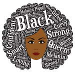 Round Afro Hair Word Art