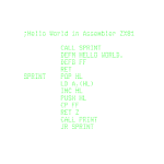 Hello World - Z81