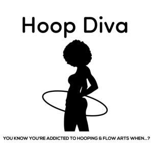 Hoop Diva Black Silhouette
