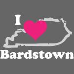 I Heart Bardstown - White Lettering, Pink Heart