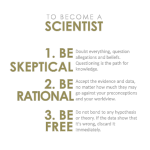 To become a scientist