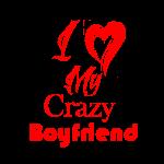 Love My Crazy Boyfriend Red
