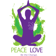 Design ~ Yoga Tshirt Peace Love Be the Change