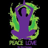 Design ~ Yoga Tshirt Peace Love Be the Change