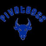 PivotBoss Curved Logo - Cobalt