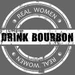 Real Women Drink Bourbon White Stamp