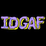 IDGAF Violet Donuts