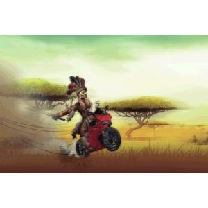 Chaka Zulu en roue arrière!!