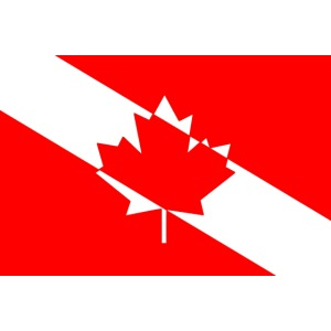 Canadian Diver Flag with just the Red!