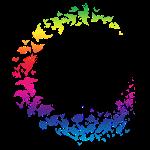 Rainbow flock