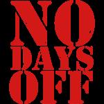 No Days Off elite athlete trainer distressed