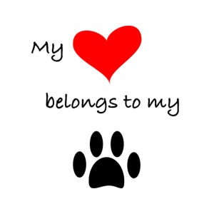 Dog Lovers shirt - My Heart Belongs to my Dog