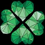 geometric lucky charm