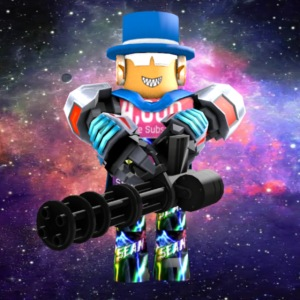 sean roblox character with minigun