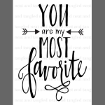 You are my most favorite