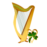 Celtic Irish gold Harp