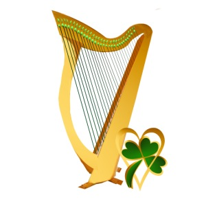 Celtic Irish gold Harp