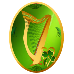 Celtic Harp Oval