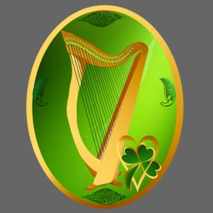 Celtic Harp Oval