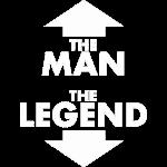 THE MAN THE LEGEND design