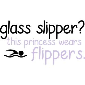 Glass Slipper Princess Wears Flippers Swim