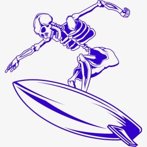 Surfing Skeleton 4c