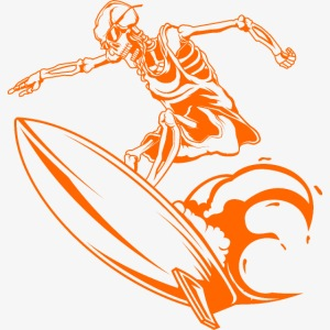 Surfing Skeleton 2a