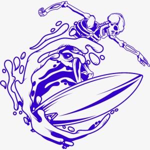 Surfing Skeleton 1c