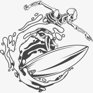 Surfing Skeleton 1