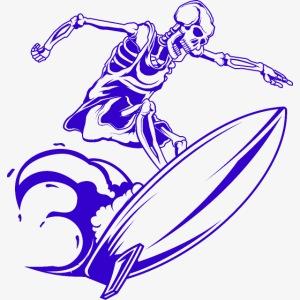 Surfing Skeleton 3c
