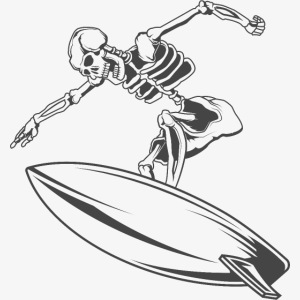 Surfing Skeleton 4