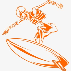 Surfing Skeleton 4a