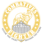 Combaives Fighter Patch Gold Cut Out Distressed.pn
