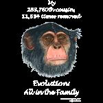 11-17 chimp Tshirt black