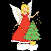 Christmas fairy with christmas tree.