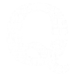 Qanon Q Word Cloud White