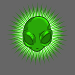 Alien dans l'éclatant T-shirt d'étoile Extraterrestre