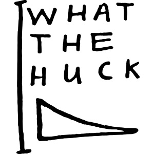 What The Huck words tee