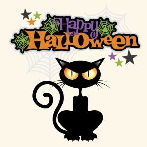 happy holloween BLACCK CAT TEE