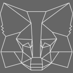 MetaMask Fox Outline - White