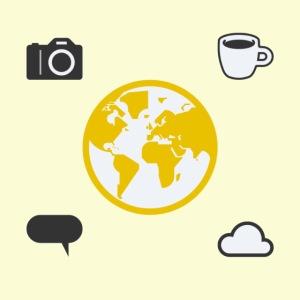Yellow world print