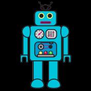 Blue Retro Robot