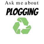 Ask me about Plogging with green recycling Symbol
