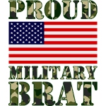 USATS PROUD MILITARY BRAT cammo