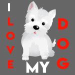 i love my dog t shirt
