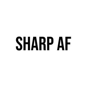 SHARP AF BLACK