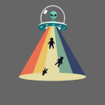 Retro Alien UFO Abduction
